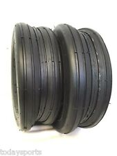Two 13X5.00-6 13/500-6 Smooth Rib 4 Ply Lawn Mower Garden Tractor Tires