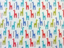 MICHAEL MILLER MINI GIRAFFES BLUE PRINT 100% BRUSHED COTTON DRESS CRAFT FABRIC