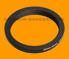 Retencion 49mm A 42mm 49-42 Stepping Step Down filtro anillo adaptador 49-42mm 49mm-42mm L-v