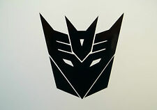 2 x Transformers Decepticon Car Side Mirror Wing Mirror Vinyl Decal Stickers Van