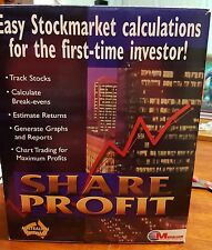 Share Profit Stockmarket Calculations - PC CD ROM - FAST POST