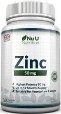Gluconato di zinco 50 mg 365 compresse fatta in UK 100% Money Back Guarantee
