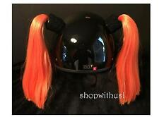 Helmet Pigtails ~ Motorcycle Skateboarding ATV Biking Snowmobile Bike~ Pig Tail