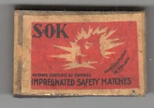 VINTAGE SOK Made in Finland WOODEN MATCH HOLDER Matchbox BOX Matches SAFETY
