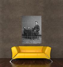 POSTER PRINT VINTAGE PHOTO SOUND THOMAS EDISON CYLINDER PHONOGRAPH SEB583