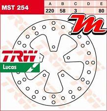 Disque de frein Avant TRW Lucas MST 254 pour Derbi 200 Boulevard 2005