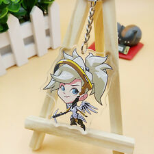Game Overwatch Mercy Key Chain Key Ring Pendant For Gift