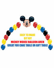 Mickey Mouse Clubhouse Birthday Party BALLOON ARCH for Cake Table or Gift Table