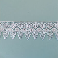 Guipure Lace ~ White ~ 60mm wide ~ Purchase by the Metre
