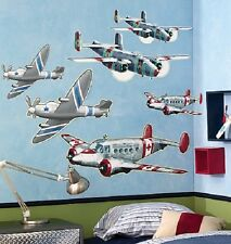 Wallies Giant AIRPLANES Planes MURAL wall stickers