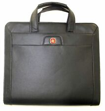 NEW Wenger Dual Carry / Dual Compartment Present-Folio NWD Black Tuscany Vinyl