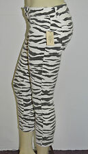 New Women's sz 31 GUESS Brittney Ankle Skinny Zebra-Print Jeans