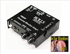 Rolls PM55P Hard Wired In Ear Monitor / Earphone Amp / Global Shipping
