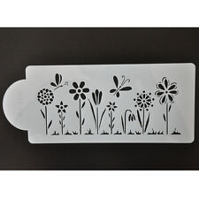 FOUR-C Flower Stencil for Cake Decorating Side Décor Silicone Sugaraft Molds