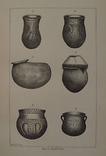 North America Indian Burial Urns Indiana Kentucky 1881Engraving