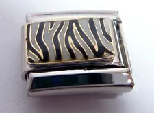 ZEBRA PRINT Italian Charm - STRIPES PATTERN Black & White 9mm Classic Size E58
