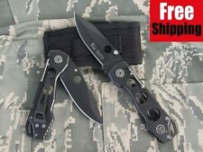 BRAND NEW BLACK NINJA SR COLUMBIA POCKET FOLDING KNIFE w CASE CAMPING
