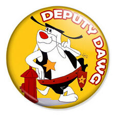 "Deputy Dawg 25mm 1"" Pin Badge Retro Classic Cartoon Dog"
