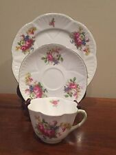Shelley LUDLOW Dainty Flat Cup & Saucer & Salad Plate Set