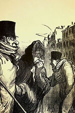 Honore Daumier c1960 GRIPPE EPIDEMIC Flu Sickness DOCTOR - Medicine Print Matted