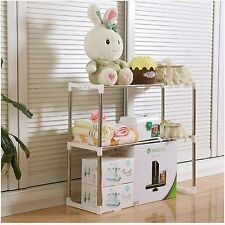 Multi Function Stand Shelf Storage Rack Side Organizer Hang Box Basket Caddy Lid