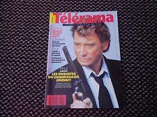 """Johnny Hallyday  """"Télérama"""" n°2050  mai 1989"""