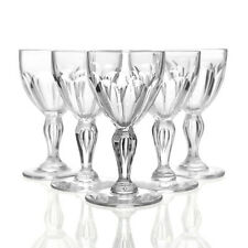 Val St Lambert - 6x Antique Cut Crystal 'Paul 1er' Wine Glasses - Belgium