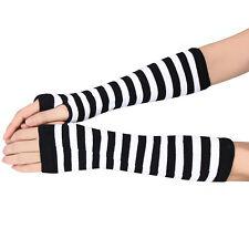 New Winter Wrist Arm Hand Warmer Knitted Long Fingerless Gloves Mitten Free P&P