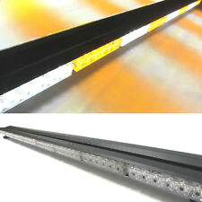 "AMBER/WHITE 47"" 96 LED DOUBLE-SIDE WORK LIGHTBAR BEACON WARNING STROBE LIGHTS"