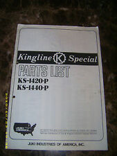 original Parts List for JUKI Kingline Special KS-1420-P KS-1440-P sewing machine