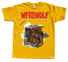 WEREWOLF The Last Warrior Nes T shirt Yellow  Blue  Arcade Famicom NINTENDO