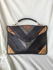 Vintage Varon Snakeskin Python  Bag Purse Top Handle Shoulder Strap