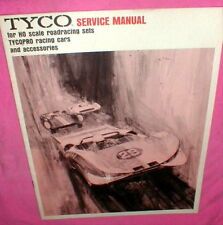 """Tyco 1970 Service Manual for HO Slot Car Racing Sets NOS 23 pages 8"""" X 11"""""""