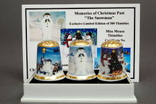 "Memories of Christmas Past ""The Snowman"" BOXED Set of 3 Ltd.Ed of 500 + Cert"