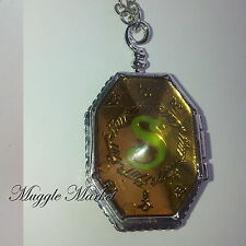 Hogwarts Harry Silver horcrux locket.Witch/wizard magical/Hermione/Ron/sytherin