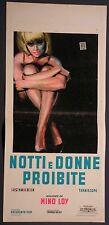 Locandina NOTTI E DONNE PROIBITE 1963 DOCUMENTO FILM REALIZZATO DA MINO LOY
