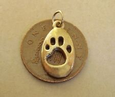 FULLY HALLMARKED BEAUTIFUL 9CARAT 9CT 9K GOLD CAT PAW PRINT CHARM CHARMS