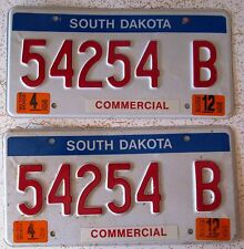 South Dakota 2003 COMMERCIAL License Plate PAIR NICE QUALITY # 54254 B