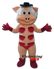 Hot Sexy Pig with Red Bra Mascot Costume Free Shipping