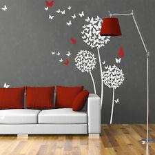 Dandelion Butterfly Wall Decal Flower Modern Vinyl Baby Kids Nursery Room Decor