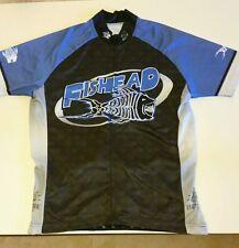 """Brainstorm Gear """"Fishead"""" Cycling Jersey Sz L"""