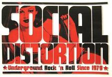 "SOCIAL DISTORTION AUFKLEBER / STICKER # 18 ""UNDERGROUND ROCK"" - PVC - WETTERFEST"