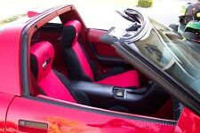 C4 Corvette Neoprene Seat Covers With Logos 2 Tone Style