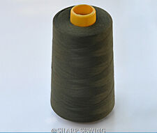 1 SPOOL ARMY GREEN  100%  POLYESTER SERGER QUILTING THREAD T27 6000 YARDS #939