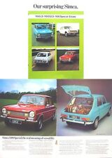 Simca 1100 LS GLS Special Estate 1972-73 Original UK Sales Brochure
