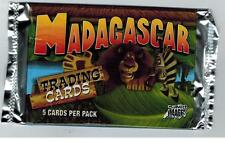 MADAGASCAR UNOPENED TRADING CARD PACK FROM BOX ZOO ANIMALS MORT MARTY MELMAN