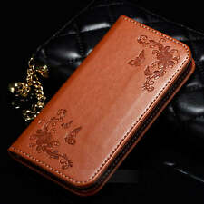 Card Holder Leather Flip Wallet Case Cover Stand Floral For iphone 7 7 Plus 6s