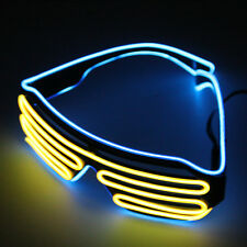 Glow LED Glasses Light Up Shades Flashing Rave Festival Party Glasses New YL