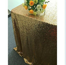 Rectangular Sequin Tablecloth Table Cloth Wedding Party Banquet Decoration Gold