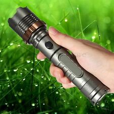 Rechargeable Zoomable 3000Lm T6 LED 18650 Flashlight Focus Head Torch Lamp